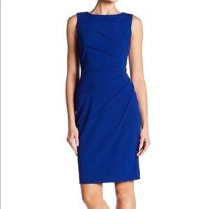 Calvin Klein Blue Starburst Sheath Dress  Size 18W